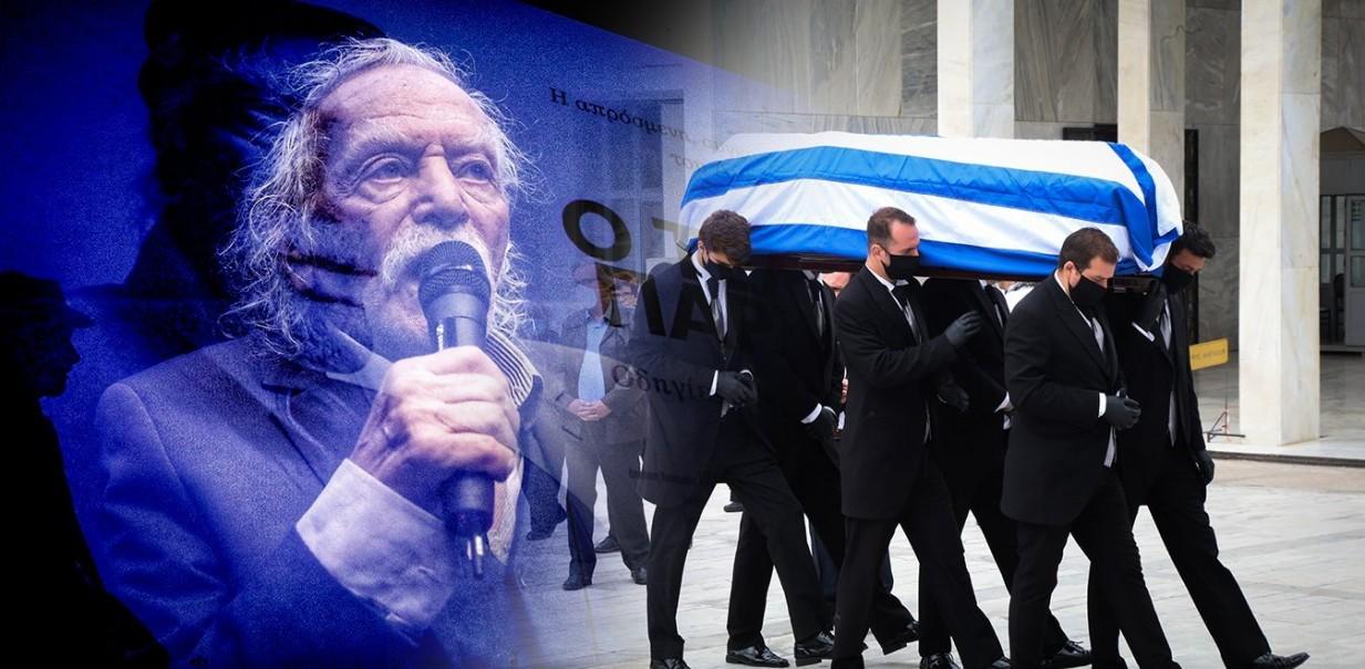 Αποχαιρετισμός στον τελευταίο παρτιζάνο - Μεσίστια η σημαία στην Ακρόπολη