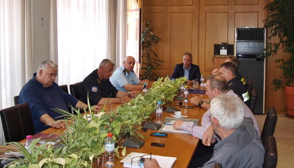 Σύσκεψη του Συντονιστικού Οργάνου Πολιτικής Προστασίας (Σ.Ο.Π.Π.) πραγματοποιήθηκε στο γραφείο της Περιφερειακής Ενότητας Τρικάλων