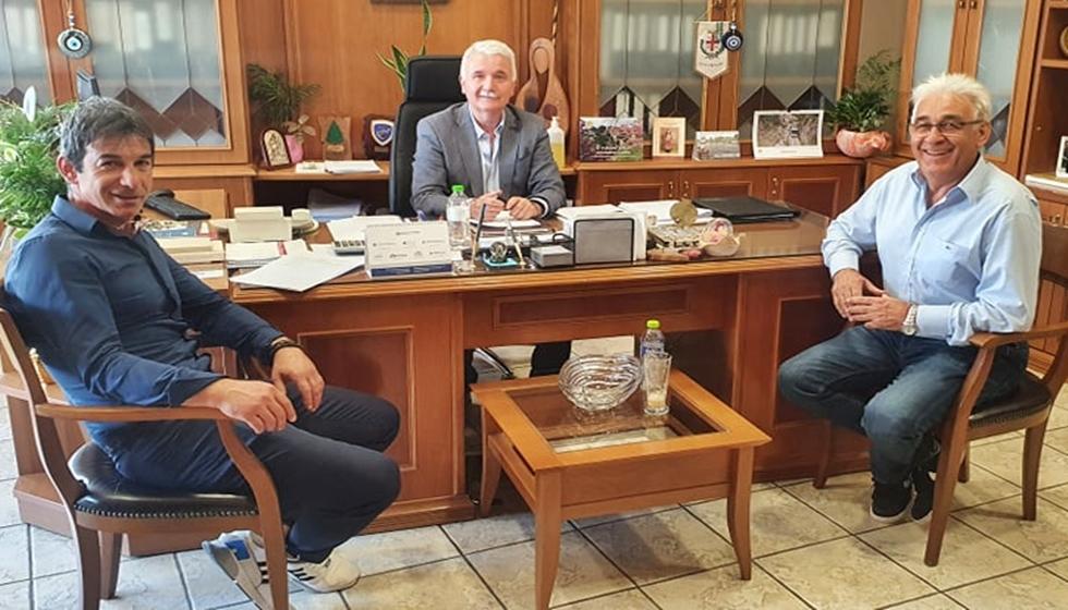 Α.Σ. Μετέωρα: Μέλη της διοικήσεως επισκέφθηκαν τον Δήμαρχο Μετεώρων κ. Θοδωρή Αλέκο και τον Αντιδήμαρχο κ. Γεώργιο Θώμο