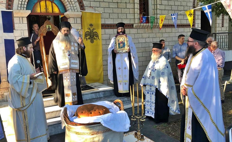 Πανηγυρικός ο εσπερινός στο παρεκκλήσι της Αγίας Τριάδος Καλαμπάκας παρουσία του Σεβασμιότατου Μητροπολίτη κ.κ. Θεοκλήτου