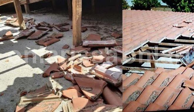 Λάρισα: Αεροσκάφος σκόρπισε πανικό και ξήλωσε σκεπή σπιτιού σε χωριό της Αγιάς