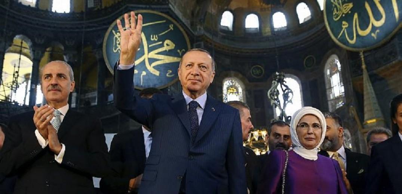 Διάγγελμα Ερντογάν : Στις 24 Ιουλίου η πρώτη μουσουλμανική προσευχή στην Αγία Σοφία