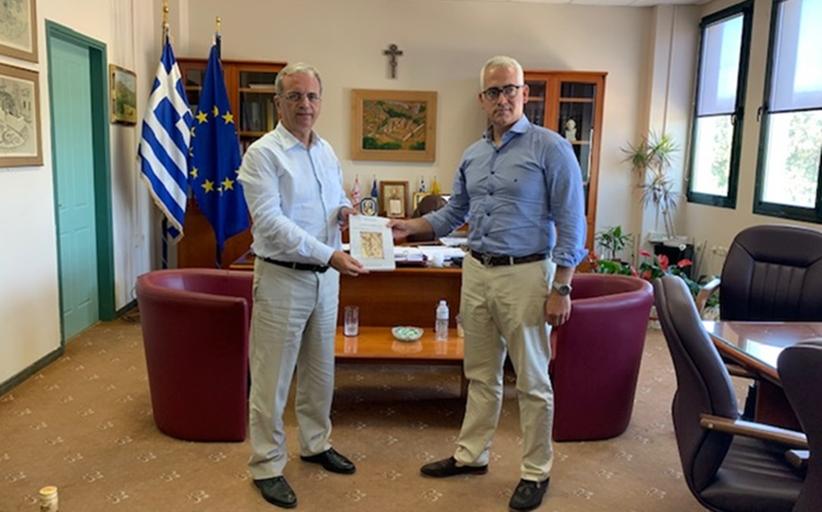 Ο Πρόεδρος του ΚΕΘΕΑ Χρίστος Λιάπης, με τον Αντιπεριφερειάρχη Χίου , για τις αναπτυξιακές προοπτικές του ΚΕΘΕΑ στη Χίο