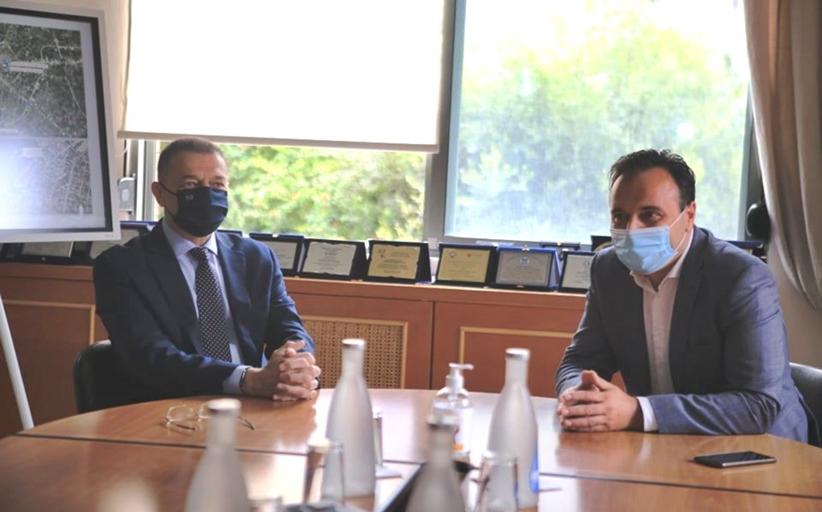 Κλίμα ουσιαστικής συνεργασίας στη συνάντηση Παπαστεργίου - Στεφανή