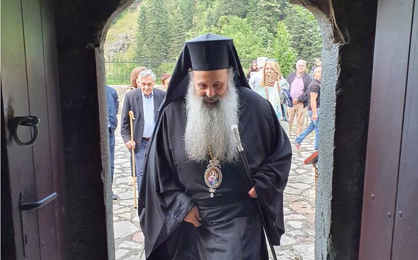 Ο Σεβ.Μητροπολίτης Σταγών και Μετεώρων στην Ιερά Μονή Παναγίας Γαλακτοτροφούσης Ανθούσας