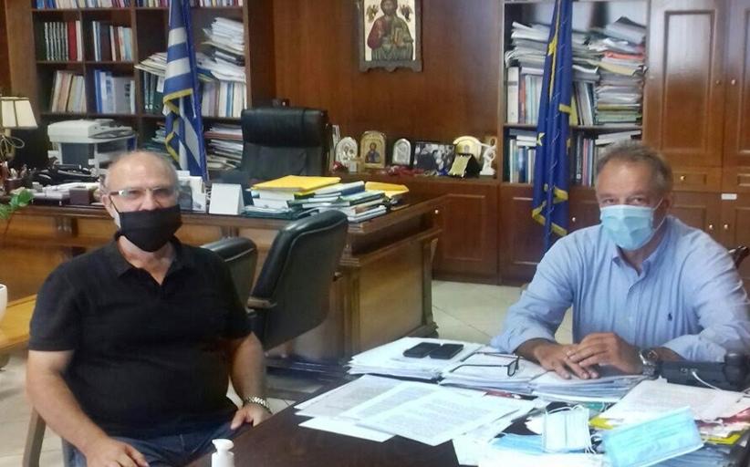Τον Αντιπεριφερειάρχη κ. Χρήστο Μιχαλάκη επισκέφτηκε ο δημοτικός σύμβουλος Δήμου Μετεωρων κ. Δημήτρης Ζαμπουρας
