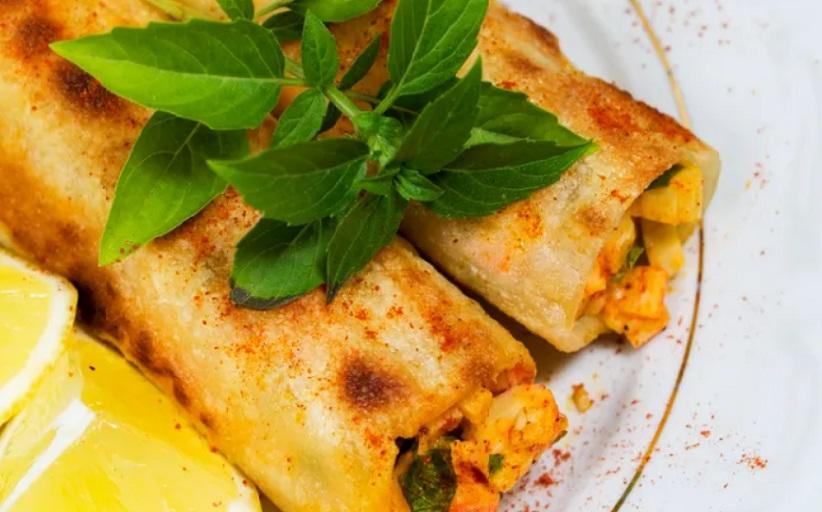 Το πιάτο της ημέρας: Κανελόνι γεμιστό με καβουρόψυχα και σχοινόπρασο