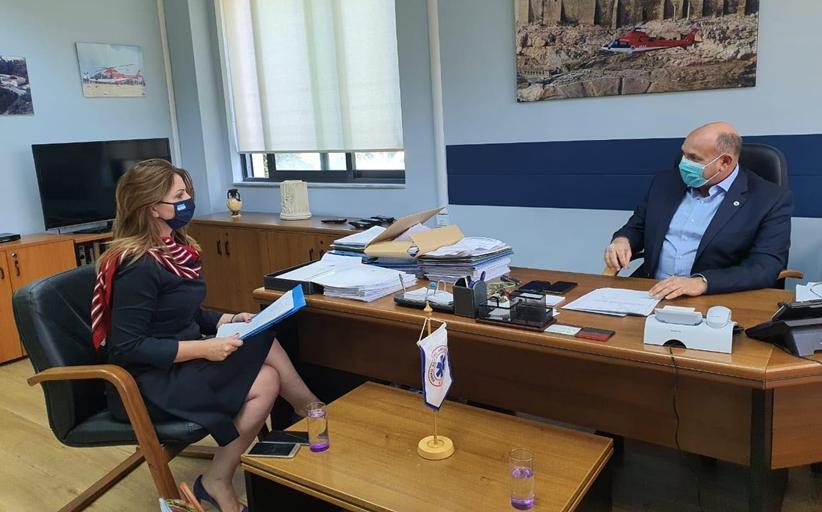 Εθιμοτυπική επίσκεψη Κατερίνας Παπακώστα στον Πρόεδρο του ΕΚΑΒ