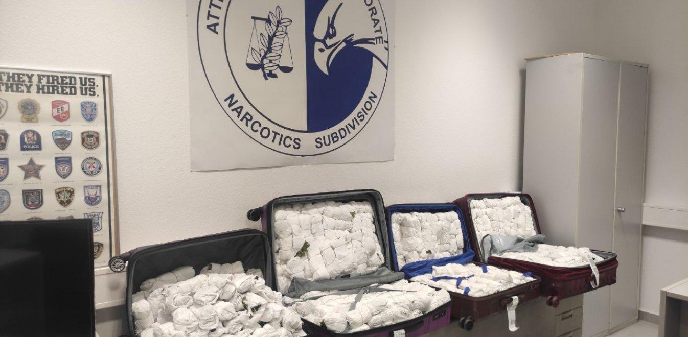Μετέφεραν με βαλίτσες 100 κιλά σπάνιου ναρκωτικού