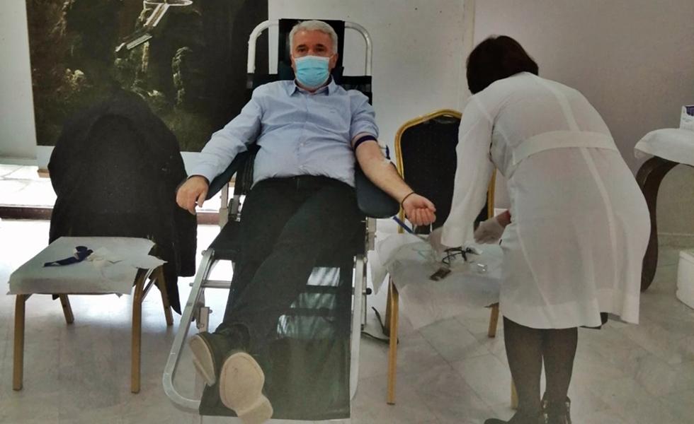 Επιτυχής η εθελοντική αιμοδοσία του Δήμου Μετεώρων...