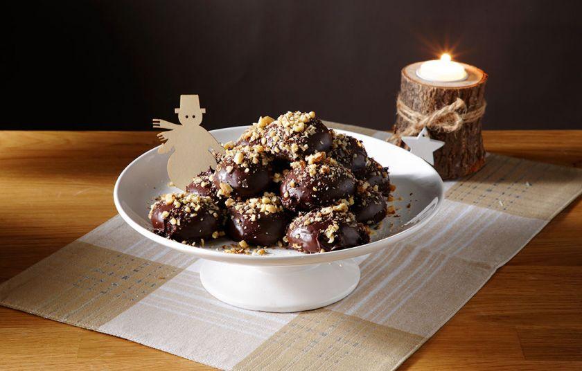 Μελοµακάρονα με επικάλυψη σοκολάτας
