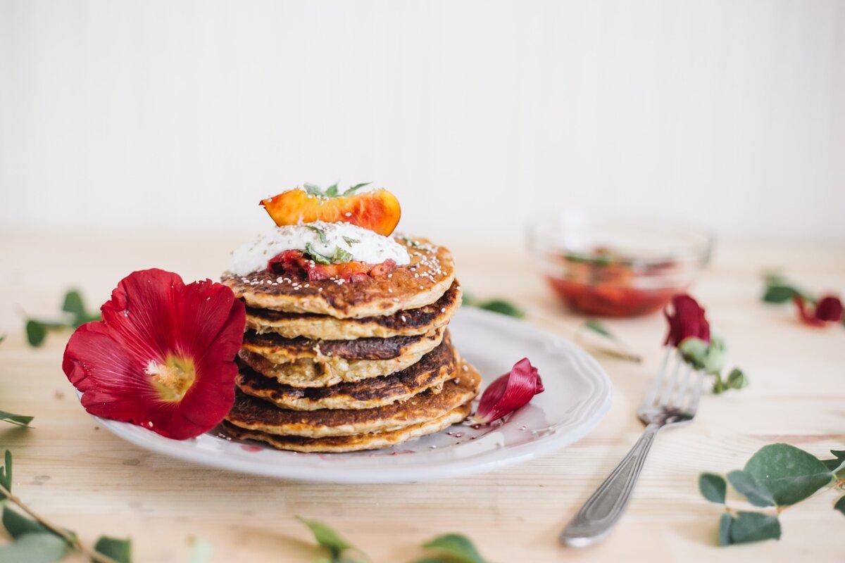 Pancakes με μπανάνα και βρώμη