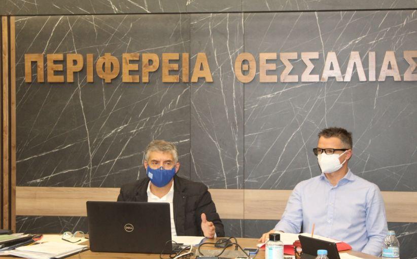Ενημέρωση του Περιφερειακού Συμβουλίου Θεσσαλίας από τον Περιφερειάρχη Κώστα Αγοραστό για την αντιμετώπιση της πανδημίας του κορονοϊού
