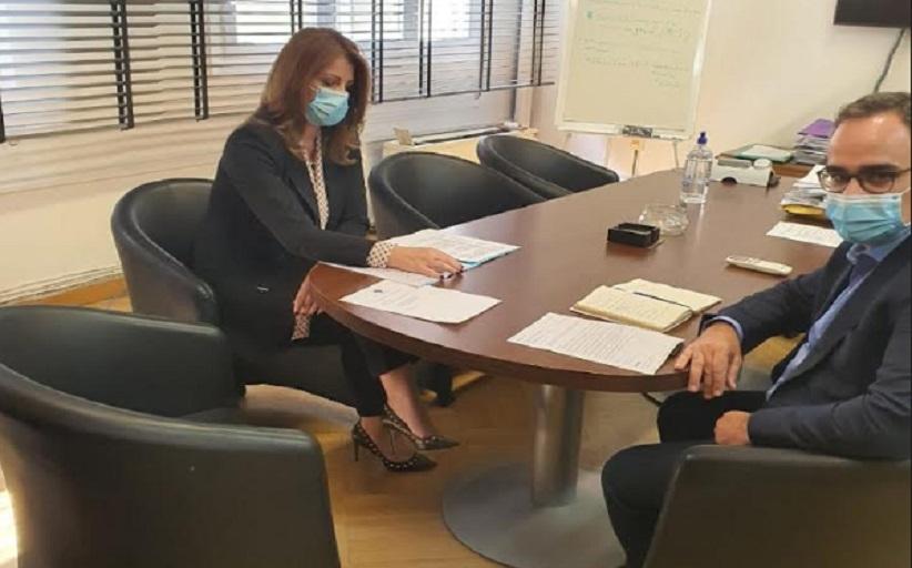 Συνάντηση της Κατερίνας Παπακώστα με τον Αναπληρωτή Υπουργό Υγείας κ. Κοντοζαμάνη
