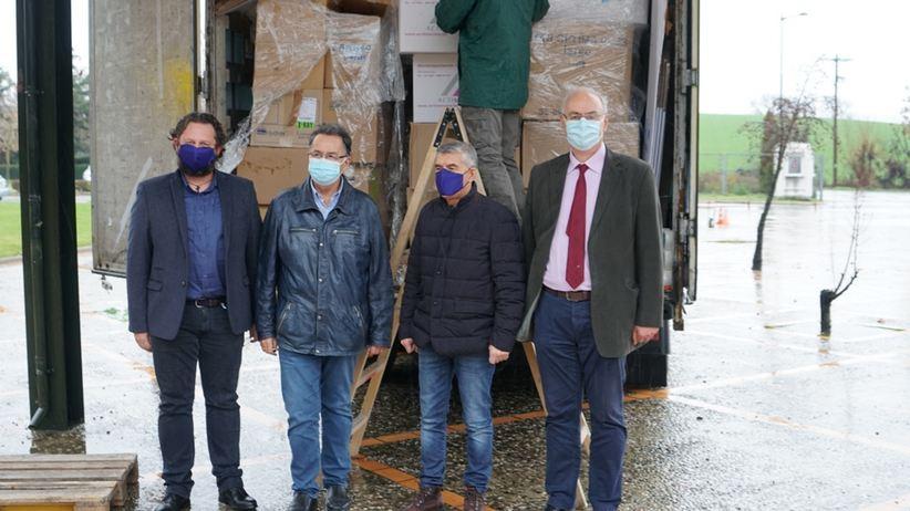 Δωρεά εξοπλισμού 500.000 ευρώ από το Πανεπιστημιακό Νοσοκομείο της Λιέγης στα Νοσοκομεία και Κέντρα Υγείας της Περιφέρειας Θεσσαλίας