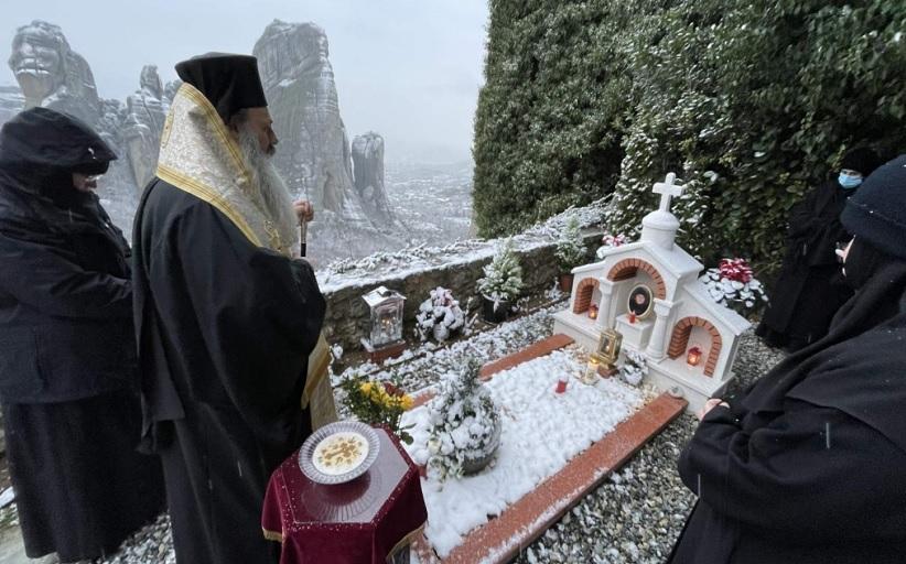 Τελέσθηκε στην Ιερά Μονή Ρουσσάνου Μετεώρων το τεσσαρακονθήμερο μνημόσυνο της μακαριστής πλέον γερόντισσας Φιλοθέης.