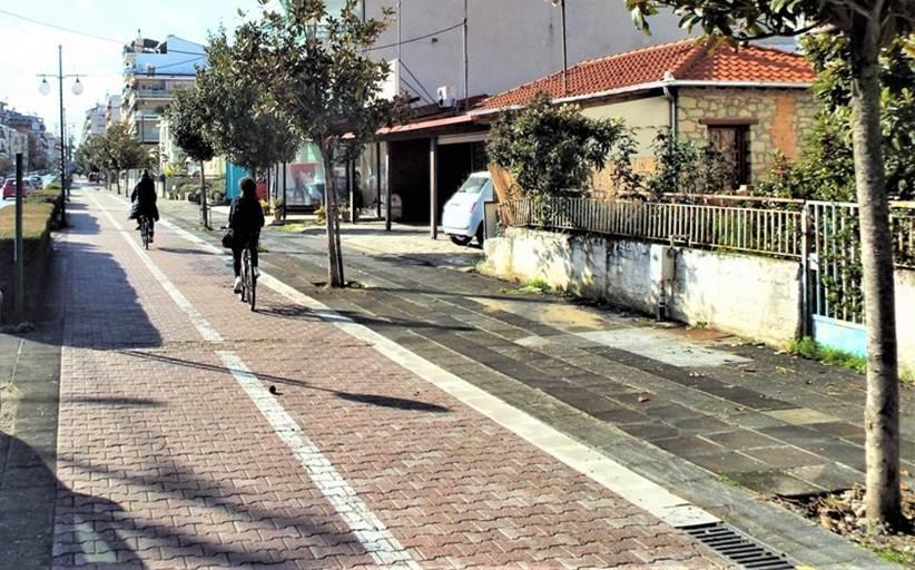 Δημοπρατείται η επέκταση του κεντρικού ποδηλατόδρομου των Τρικάλων