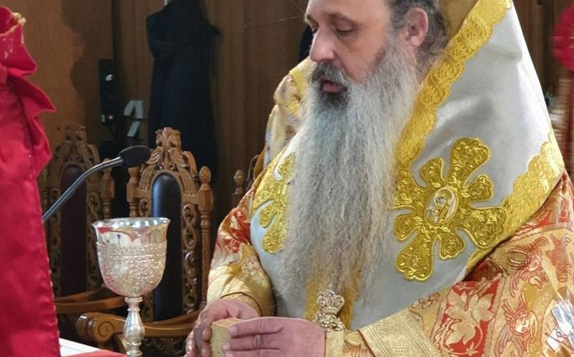 Ο Σεβ.Μητροπολίτης Σταγών και Μετεώρων κ.Θεόκλητος στον ενοριακό Ιερό Ναό των Οσίων Μετεωριτών Πατέρων