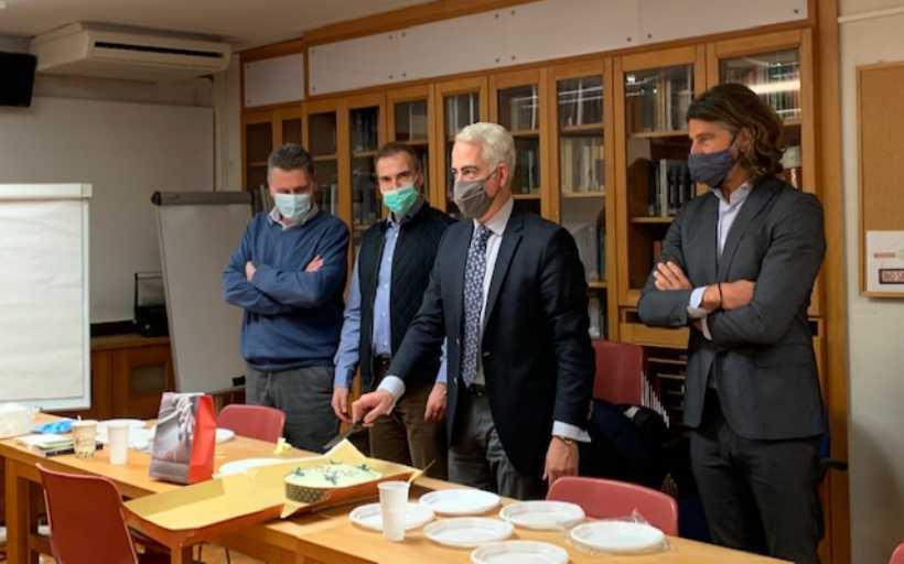 Έκοψε την Πρωτοχρονιάτικης Πίτα ο Πρόεδρος του ΚΕΘΕΑ Χρίστος Λιάπης