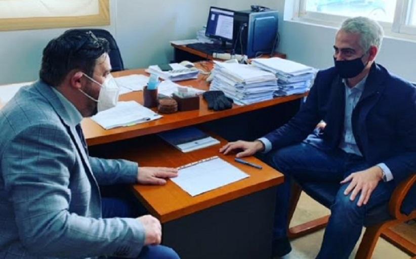 Με τον Διοικητή του Γενικού Νοσοκομείου Λάρισας, Γρηγόρη Βλαχάκη, συναντήθηκε ο Πρόεδρος του ΚΕΘΕΑ Χρίστος Λιάπης