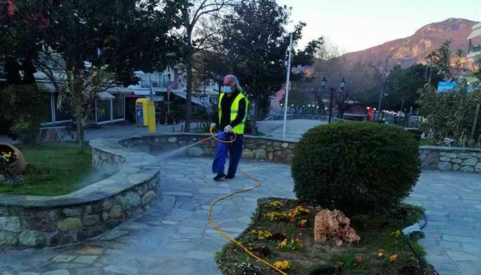 ΔΗΜΟΣ ΜΕΤΕΩΡΩΝ: Πραγματοποιήθηκε η απολύμανση κοινόχρηστων χώρων