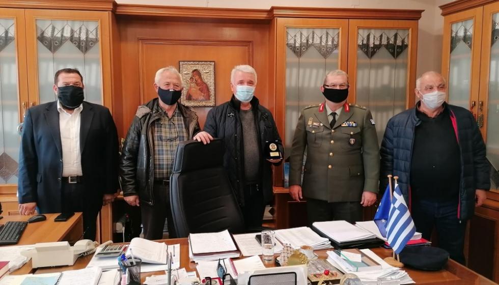 Τον Δήμαρχο Μετεώρων επισκέφθηκε ο νέος Διοικητής της ΣΜΥ κ. Κωνσταντίνος Δαλάκης