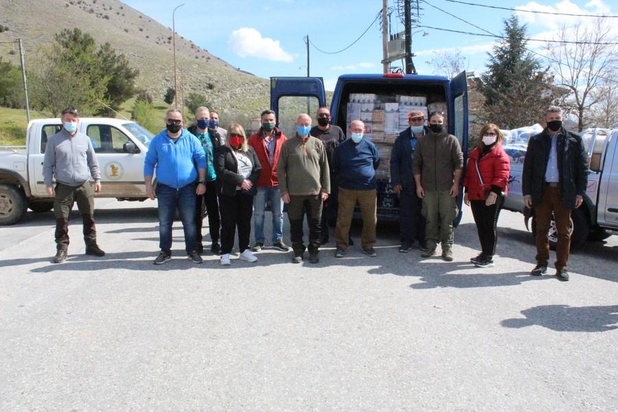 Προσφορά αγάπης και αλληλεγγύης από Κυνηγετικούς συλλόγους στους Σεισμόπληκτους του Δήμου Φαρκαδόνας