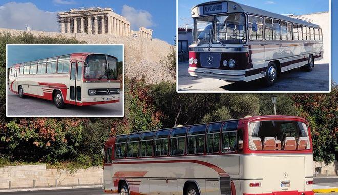 Κλασικά λεωφορεία στη διάθεση του ελληνικού τουρισμού
