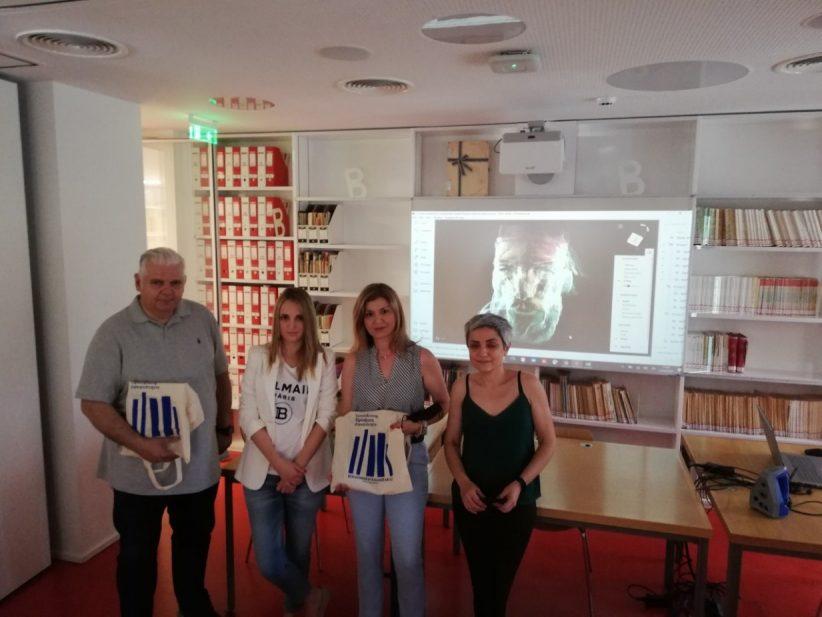 Επίσκεψη της κας Βουλγαράκη, Διευθύντριας του Γαλλικού Ινστιτούτου Λάρισας στη Βιβλιοθήκη