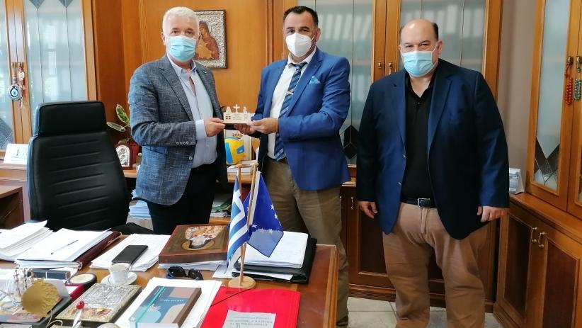 Συνάντηση Δημάρχου Δήμου Μετεώρων με τον Πρόεδρο της Ομοσπονδίας Συλλόγων Ιεροψαλτών Ελλάδος