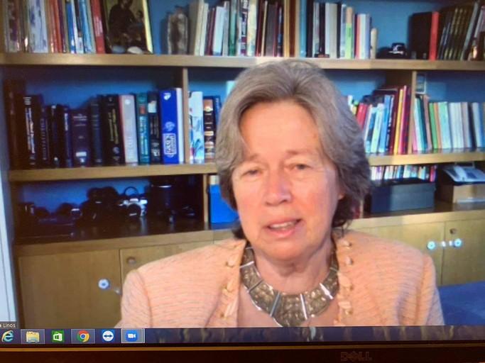 Πραγματοποιήθηκε η τηλεδιάσκεψη με την κα Αθηνά Λινού, Καθηγήτρια Επιδημιολογίας του ΕΚΠΑ στη Βιβλιοθήκη Καλαμπάκας