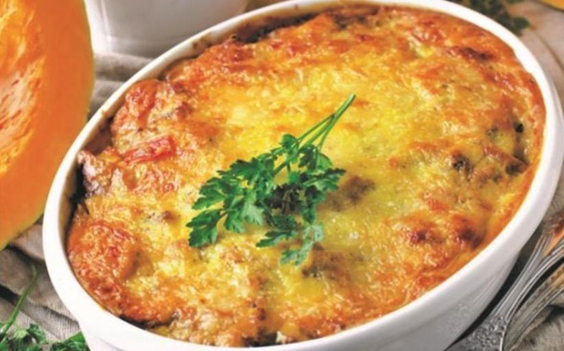 Ριγκατόνι φούρνου με κολοκύθα και φασκόμηλο