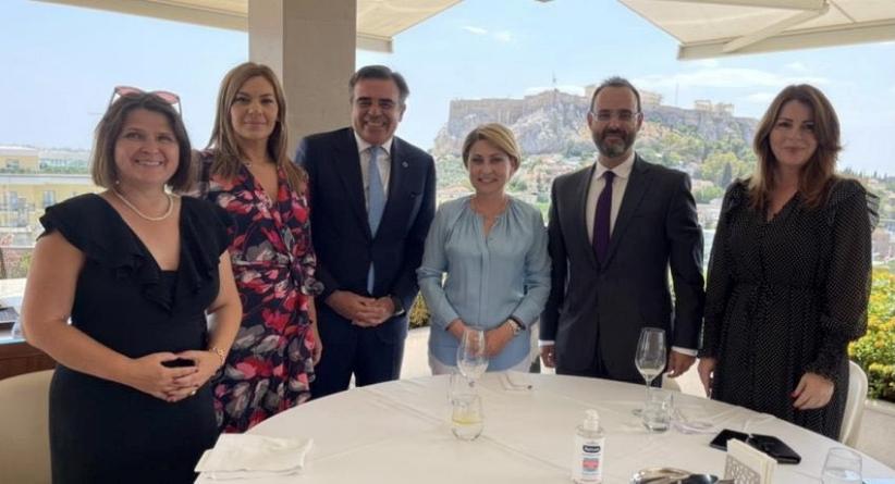 Κατερίνα Παπακώστα: Συνάντηση εργασίας με την Πρέσβη της Σλοβακίας