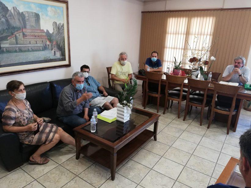 Συνάντηση του Δημάρχου Δήμου Μετεώρων με τον Σύλλογο Φίλων Σιδηροδρόμου Τρικάλων