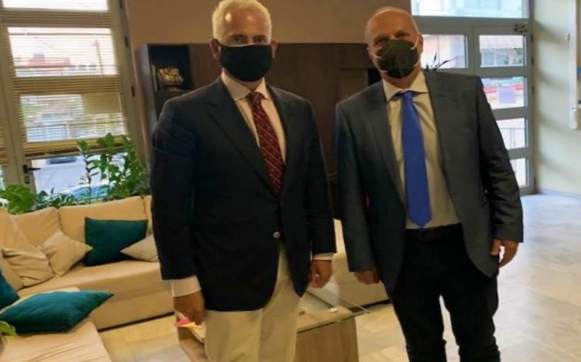 Με τον Ιωάννη Οικονόμου, πρόσφατα στην Κρήτη, ο Χρίστος Λιάπης