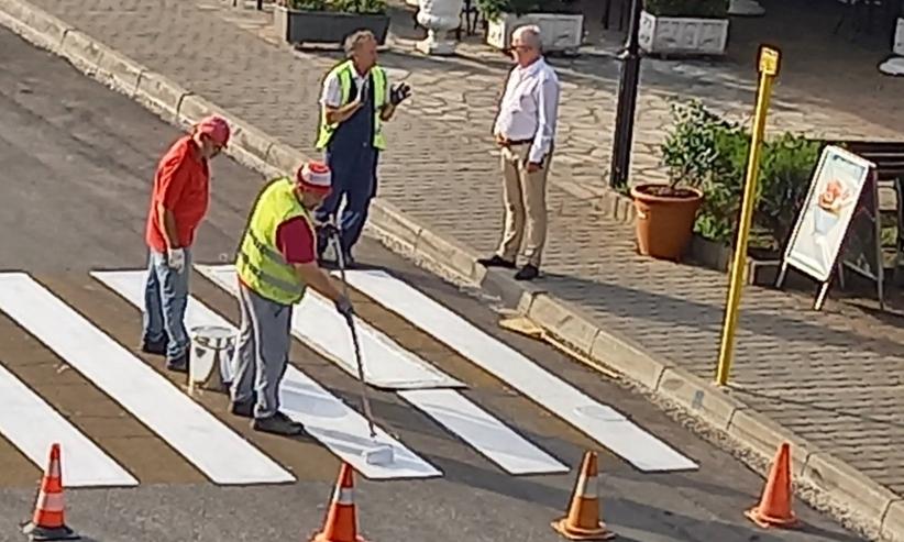 Συνεχίζονται οι εργασίες διαγράμμισης στον Δήμο Μετεώρων