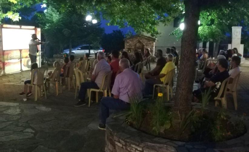 Παράσταση Καραγκιόζη στο χωριό του Κακοπλευρίου