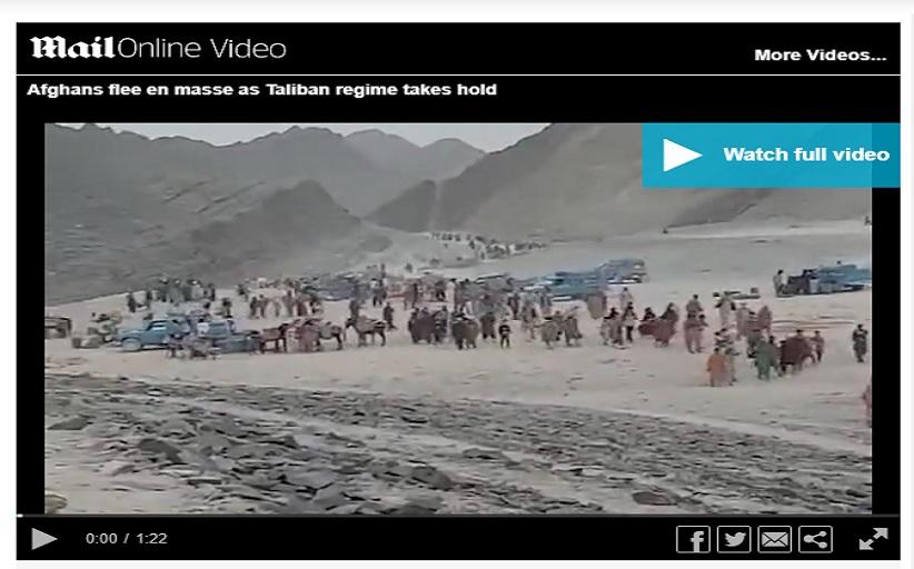 Αφγανιστάν: Χιλιάδες εγκαταλείπουν τη χώρα περπατώντας χιλιόμετρα μέσα στην έρημο