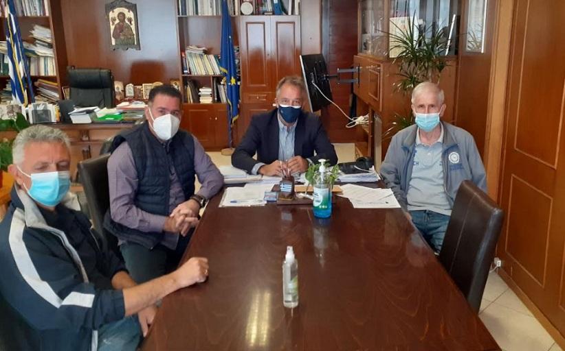 Το γραφείο του Αντιπεριφερειάρχη Τρικάλων κ. Χρήστο Μιχαλάκη επισκέφτηκε η Διοίκηση και ο προπονητής του ΑΟ Δήμητρας Απόλλων