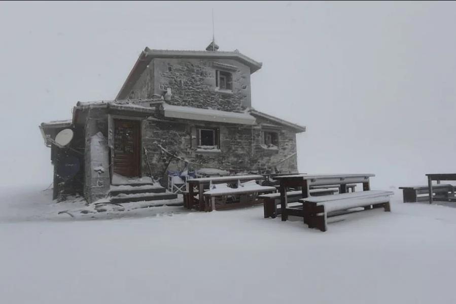 Χιονίζει στον Όλυμπο - Χειμωνιάτικο σκηνικό