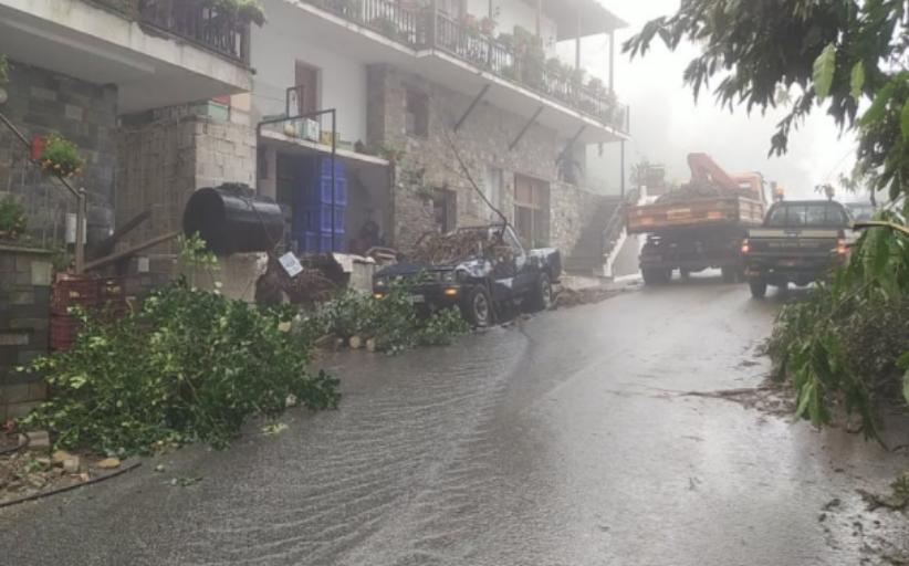 Ρεκόρ βροχής στη Ζαγορά Πηλίου - 700 χιλιοστά σε 72 ώρες